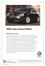 Jetta Limited Edition USA,  A5+ size sheet, USA, 2010
