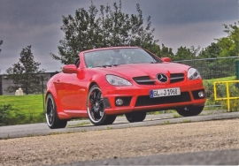 SLK Cabriolet, A6-size postcard, Mercedes-Fan World # 07/2012, German