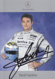 David Saelens - DTM 2001 - real auto gram postcard, German