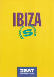Ibiza S brochure, 6 pages, 10/1994, A4-size, German language