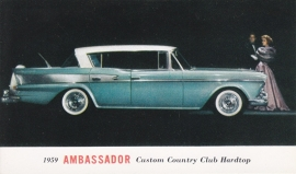 Custom Country Club Hardtop, US postcard, standard size, 1959, # AM-59-7019J