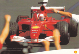Formula I racecar, A6-size card, issued by Shell, English language, about 2002