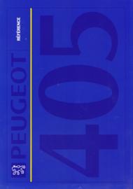405 Référence folder, 4 pages, A4-size, 1992, Dutch language