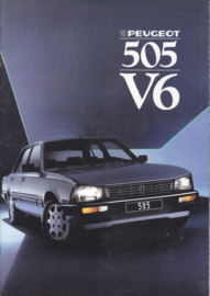 505 V6 Sedan brochure, 16 pages, A4-size, 1987, Dutch language