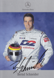 Bernd Schneider - DTM 2001 - auto gram postcard, German