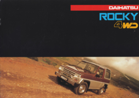 Rocky 4WD brochure, 12 pages, about 1988, A4-size, Dutch language