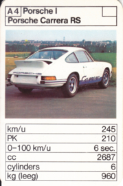 911 RS - card A4 - size 10 x 6,5 cm, Dutch language