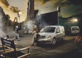 Citan delivery van, A6-size postcard, Mercedes-Fan World # 01/2012, German