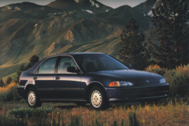 Civic LX Sedan, US postcard, continental size, 1993, # ZO313