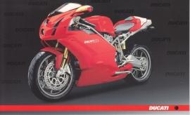 Ducati 999s, continental size postcard, English language