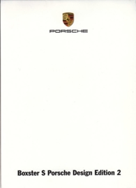 Boxster S Porsche Design Edition 2, A6-size set with 6 postcards in white cover, 2009, WSRS 0901 07S7 00