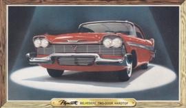 Belvedere 2-Door Hardtop, US postcard, standard size, 1958