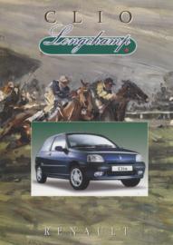 Clio Longchamp folder, 4 pages, 1997, Dutch language