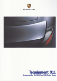 911 Tequipment (996) brochure, 36 pages, 08/2001, English