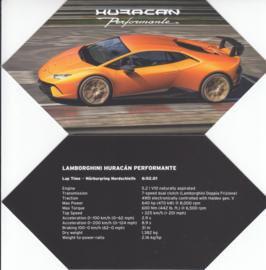 Huracan Performante, 4 page brochure, English language, 2017