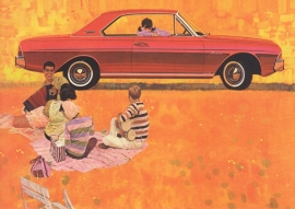 Taunus 20M Hardtop 1965, A6-size postcard for 75 Years Ford Germany, 2000