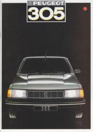305 Sedan brochure, 20 pages, A4-size, 1987, Dutch language