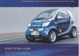 Smart Fortwo Coupe Blueworld, A6-size postcard, NAIAS 2004