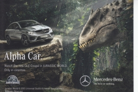 GLE Coupé Jurassic World, A6-size postcard, German language, 2015