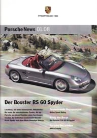 News 01/2008 with Boxster RS 60 Spyder, 28 pages, 02/08, German language
