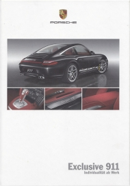 911 Exclusive brochure, 56 pages, 06/2008, hard covers, German