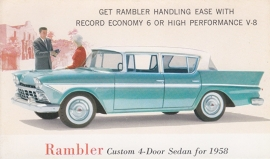 Custom 4-Door Sedan, US postcard, standard size, 1958, # AM-58-6516 D