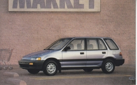 Civic Wagon, US postcard, standard size, 1988
