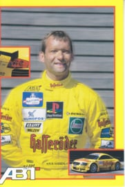 TT with racing driver Kris Nissen, unsigned postcard 2001 season, German language