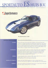 Superformance Coupe leaflet, 2 pages, about 1996, English language