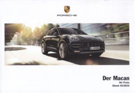 Macan pricelist brochure, 88 pages, 03/2015, German