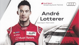 Racing driver Andre Lotterer, postcard 2014 season, English language