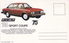 124 Sport Coupe, standard size, US postcard (# 7541)
