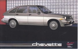 Chevette,  US postcard, standard size, 1988