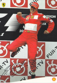 Michael Schumacher postcard, A6-size card, issued by Shell, Dutch language