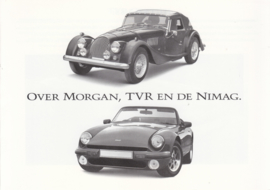 TVR/Morgan both 2 models, 8 page brochure, about 1990, Dutch language *