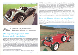 Scheib Bugatti 35 B & MG TD replica leaflet, 2 pages, about 2010, German languages