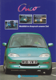 Chico experimental citycar brochure, A4-size, 8 pages, German language, 1991