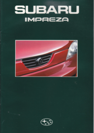 Impreza brochure, 28 pages + specs., Dutch language, about 1992