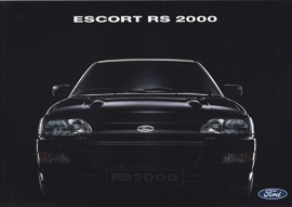 Escort RS 2000 brochure, 12 pages, 08/1991, German language