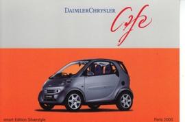 Smart Fortwo Edition Silverstyle, A6-size postcard, Paris 2000