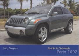 Jeep Compass, A6-size postcard, Paris 2002