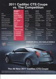 CTS Sport Sedan & Coupe vs. competition, large sheet, USA, 2011, English