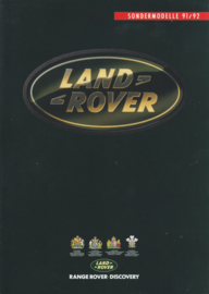 Discovery & Range Rover special editions folder, 4 pages, 1991/92, German language