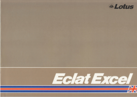 Eclat Excel brochure, 4 pages, DIN-A4 size, c1982, English language