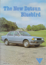Bluebird brochure, 12 pages, UK, English language, 01/1981