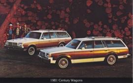 Century Wagons, US postcard, standard size, 1981