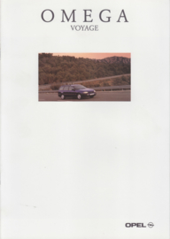 Omega Voyage special edition brochure, 8 pages, 01/1996, German language