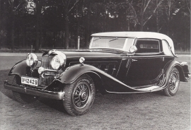 Horch 670 Sport Cabriolet 1931-1934, recent A6-postcard, issued by Audi factory museum, German