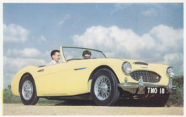 Austin-Healey 3000, British factory postcard, # 1803, mint