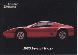 Ferrari Boxer 1980 collector card, small size,  Exotic Dreams issue, 1992 (# 98)